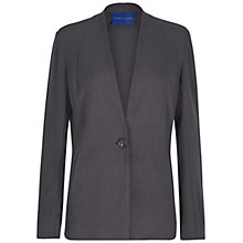 Buy Winser London Crepe Jersey Jacket, Dark Grey Online at johnlewis.com