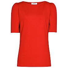 Buy Reiss Lisa Long Sleeve Jersey Top, Clementine Online at johnlewis.com