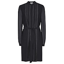 Buy Reiss Cairn Shift Dress, Black Online at johnlewis.com