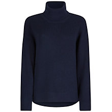 Buy Winser London Ribbed Roll Neck Jumper, Midnight Online at johnlewis.com