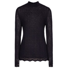 Buy Reiss Orla Knit Top, Night Navy Online at johnlewis.com
