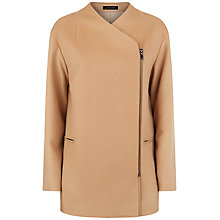 Buy Jaeger Wool Zip Detail Coat, Camel Online at johnlewis.com
