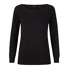 Buy Jaeger Cashmere Off Shoulder Jumper, Black Online at johnlewis.com
