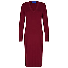 Buy Winser London Merino Wool V Neck Dress, Rich Burgundy Online at johnlewis.com
