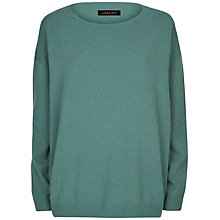 Buy Jaeger Cashmere Slouchy Jumper, Green Online at johnlewis.com