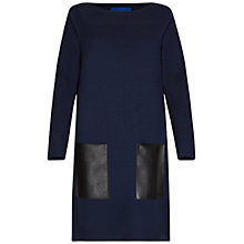 Buy Winser London Merino Wool Pocket Dress, Midnight/Black Online at johnlewis.com