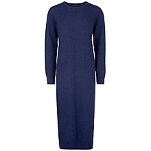 Buy Jaeger Cashmere Double Trim Dress, Blue Online at johnlewis.com