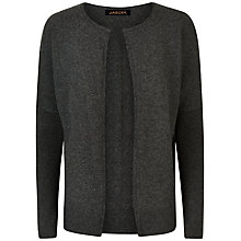 Buy Jaeger Cashmere Double Trim Cardigan, Charcoal Online at johnlewis.com