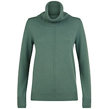 Buy Jaeger Cashmere Cowl Neck Jumper, Green Online at johnlewis.com