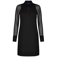 Buy Winser London Miracle Georgette Sleeve Dress, Black Online at johnlewis.com