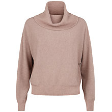 Buy Jaeger Cashmere Slouchy Sweater, Pink Online at johnlewis.com