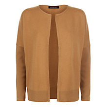 Buy Jaeger Cashmere Double Trim Cardigan, Camel Online at johnlewis.com