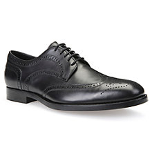 Buy Geox Hampstead Derby Brogues, Black Online at johnlewis.com