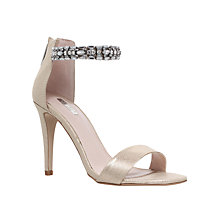 Buy Carvela Georgie Embellished Stiletto Sandals, Gold Online at johnlewis.com