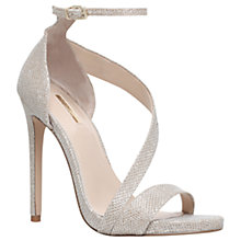 Buy Carvela Gosh Stiletto Heel Sandals, Gold Online at johnlewis.com