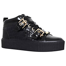 Buy Carvela Lovejoy Trainers, Black Patent Online at johnlewis.com