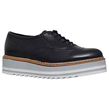 Buy Carvela Lasting Flatform Brogues, Black Leather Online at johnlewis.com