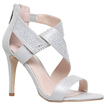Buy Carvela Graft High Heel Sandals, Silver Online at johnlewis.com