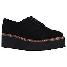 Buy Carvela Love Flatform Brogues, Black Suede Online at johnlewis.com