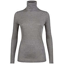 Buy Jaeger Jersey Ribbed Roll Neck Top Online at johnlewis.com