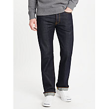 Buy JOHN LEWIS & Co. Unwashed Japanese Selvedge Denim Jeans, Blue Online at johnlewis.com