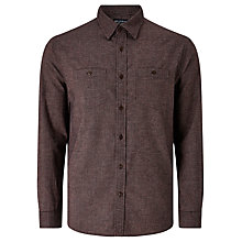 Buy JOHN LEWIS & Co. Oklahoma Mini Grid Shirt, Rust Online at johnlewis.com