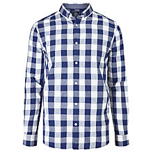 Buy John Lewis Large Dobby Gingham Shirt, Navy Online at johnlewis.com