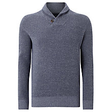 Buy John Lewis Shawl Neck Milano Twist Overhead Cotton Jumper, Blue Online at johnlewis.com