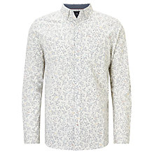 Buy John Lewis Floral Cuban Car Shirt, White Online at johnlewis.com