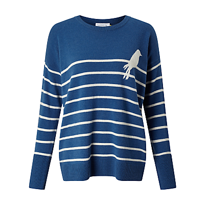 Collection WEEKEND by John Lewis Bird On A Wire Jumper, Denim Blue