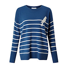 Buy Collection WEEKEND by John Lewis Bird On A Wire Jumper, Denim Blue Online at johnlewis.com