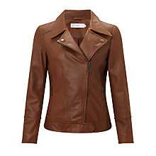 Buy John Lewis Betsy Leather Biker Jacket Online at johnlewis.com