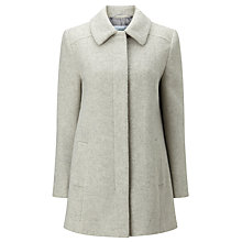 Buy John Lewis Jenny A Line Coat, Light Grey Online at johnlewis.com