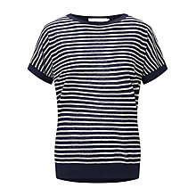 Buy John Lewis Short Sleeve Stripe Linen Jumper Online at johnlewis.com