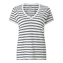 Buy John Lewis Cotton Slub Neck T-Shirt Online at johnlewis.com