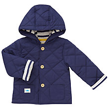 Buy John Lewis Baby Wadded Jacket, Blue Online at johnlewis.com