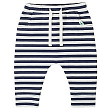 Buy John Lewis Baby Striped Joggers, Blue/White Online at johnlewis.com
