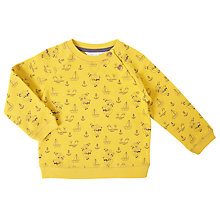 Buy John Lewis Baby Nautical Print Cotton Sweatshirt, Yellow Online at johnlewis.com