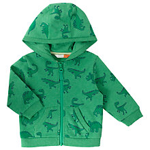 Buy John Lewis Baby Dinosaur Hoodie, Green Online at johnlewis.com