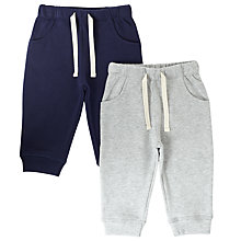Buy John Lewis Baby Joggers, Pack of 2, Navy/Grey Online at johnlewis.com
