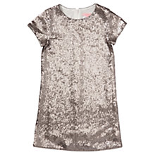 Buy Jigsaw Girls' Shimmer Sequin Shift Dress, Silver Online at johnlewis.com