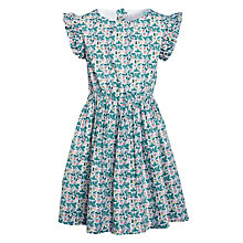 Buy John Lewis Girls' Frilly Floral Print Dress, Multi Online at johnlewis.com