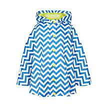 Buy John Lewis Girls' Chevron Stripe Cape, Campanula Blue Online at johnlewis.com