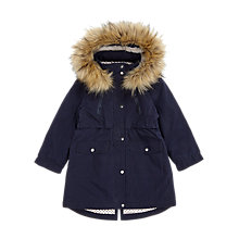 Buy Jigsaw Girls' Star Luxe Parka, Navy Online at johnlewis.com