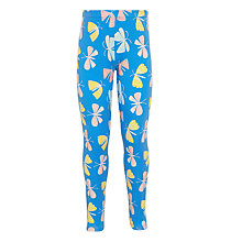 Buy John Lewis Girls' Butterfly Print Leggings, Campanula Blue Online at johnlewis.com