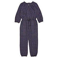 Buy Jigsaw Girls' Folk Print Jersey Jumpsuit, Navy Online at johnlewis.com