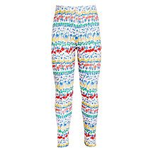 Buy John Lewis Girls' Floral Print Leggings, White/Multi Online at johnlewis.com