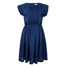 Buy John Lewis Girls' Woven Dress, Navy Online at johnlewis.com