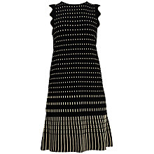 Buy Ted Baker Relioa Flippy Metallic Dress, Black Online at johnlewis.com