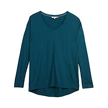 Buy Fat Face V Neck Jersey Top Online at johnlewis.com
